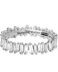 Suzanne Kalan - White Diamond Baguette Eternity Ring - Lyst