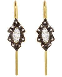 Cathy Waterman - Diamond Marquise Leaf Earrings - Lyst