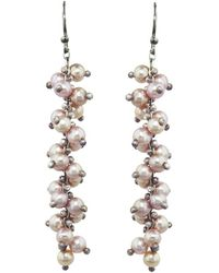 Ten Thousand Things - Pink Pearl Long Spiral Earrings - Lyst
