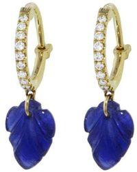 Raphaele Canot - Set Free Sapphire Leaf Earrings - Lyst