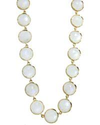 Irene Neuwirth - Rose Cut Rainbow Moonstone Chain Necklace - Lyst
