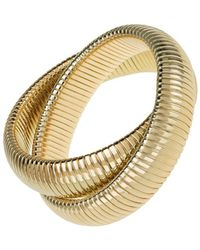 Janis Savitt - High Polished Gold Double Cobra Bracelet - Lyst