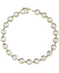 Irene Neuwirth - Rose Cut Rainbow Moonstone Bracelet - Lyst