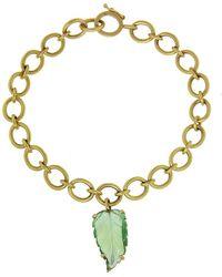 Irene Neuwirth - One-of-a-kind Green Tourmaline Leaf Bracelet - Lyst