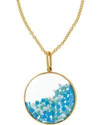 Moritz Glik - Two Tone Turquoise Shaker Necklace - Lyst