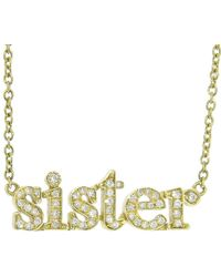 Jennifer Meyer - Diamond Sister Necklace - Lyst