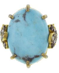 Cathy Waterman - Kingman Turquoise Leaf Ring - Lyst