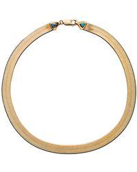 Wwake - 16 Inch Large Rhodes Herringbone Necklace - Lyst