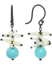 Ten Thousand Things - Keshi Pearl Spike Earrings With Turquoise - Lyst