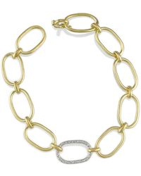 Irene Neuwirth - Large Link Bracelet With Pave Diamond Link - Lyst