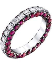 SHAY - Three Sided Ruby And Diamond Eternity Ring - Lyst