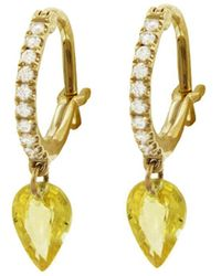 Raphaele Canot - Set Free Yellow Sapphire Hoop Earrings - Lyst