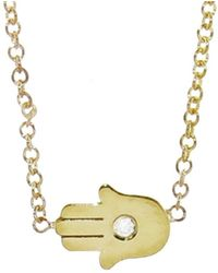 Jennifer Meyer - Mini Hamsa Diamond Necklace - Lyst