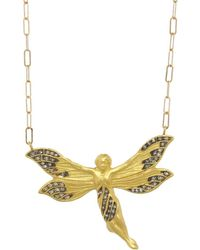 Cathy Waterman - Diamond Fairy Pendant Necklace - Lyst