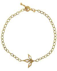 Cathy Waterman - Three Leaf Diamond Chain Bracelet - Lyst