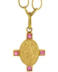 Cathy Waterman - Wellspring Muse Pink Sapphire Charm - Lyst
