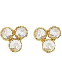 Sethi Couture - Triple Rose Cut Diamond Stud Earrings - Lyst