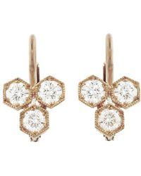 Cathy Waterman - Triple Diamond Hexagonal Earrings - Lyst