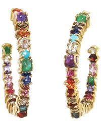 Sharon Khazzam - Multi-stone Inside Out Baby Hoop Earrings - Lyst