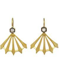 Cathy Waterman - Diamond Big Top Earrings - Lyst