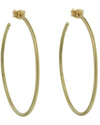 Tate - Staple Plain Hoop Earrings - Lyst