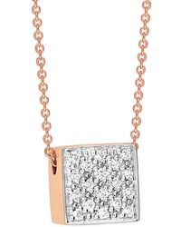 Ginette NY - Baby Diamond Ever Square Necklace - Lyst