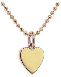 Jennifer Meyer - Solid Heart Necklace - Lyst