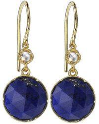 Irene Neuwirth - Round Rose Cut Lapis And Diamond Earrings - Lyst