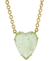 Irene Neuwirth - 34.94 Carat Green Tourmaline Heart Necklace - Lyst
