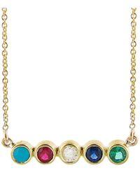 Jennifer Meyer - Five Gemstone Pendant Necklace - Lyst
