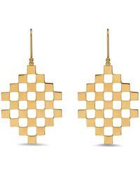 Established - Checker Gallery Dangle Earrings - Lyst