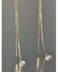 Kataoka - Double Round Diamond Thread Through Earrings - Lyst