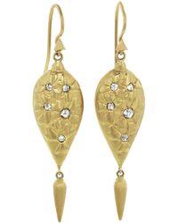 Cathy Waterman - Black And White Rose Cut Diamond Wildflower Earrings - Lyst