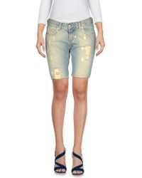 Criminal - Denim Bermudas - Lyst