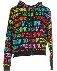 Moschino - Logo Print Hoodie - Lyst