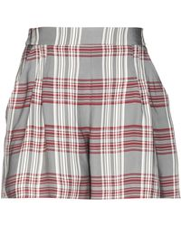 Markus Lupfer - Plaid High-waisted Shorts - Lyst