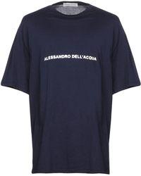 Alessandro Dell'acqua - T-shirts - Lyst