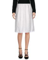 Ottod'Ame - Knee Length Skirt - Lyst