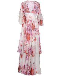 Giamba Long Dress - Pink