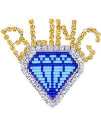 Shourouk - Emojibling Diamond Brooch - Lyst
