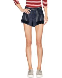 L'Autre Chose - Denim Shorts - Lyst