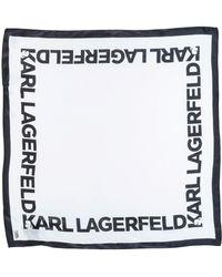 Karl Lagerfeld - Square Scarf - Lyst