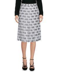 Moschino - Knee Length Skirt - Lyst