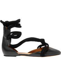 7707ba7ed1c53 Black Leather Ballet Flats.  96. Vestiaire Collective · Étoile Isabel Marant  - Ballet Flats - Lyst