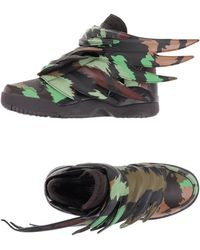 Jeremy Scott for adidas - Camo-Print Wing Trainers - Lyst