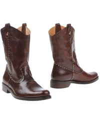 Henry Cuir - Ankle Boots - Lyst