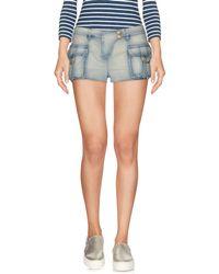 Balmain - Denim Shorts - Lyst