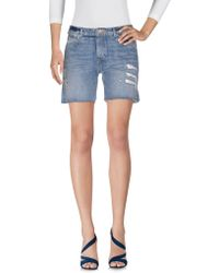 Maison Scotch - Denim Bermudas - Lyst