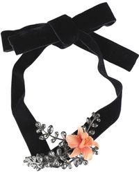 884e2ea54203 Lyst - Collar Erma de plata vermeil rosa con oso de ónix y espinela ...