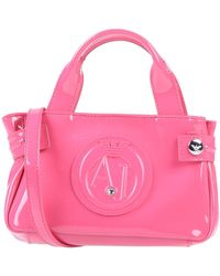 c123d395ec Lyst - Armani Jeans Bauletto Bag in Faux Saffiano Leather with Logo ...